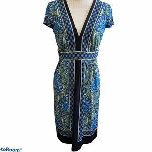 London Times Women's size 8 V-Neck Dress